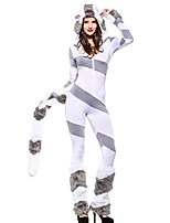 cheap -Princess Animal Dress Cosplay Costume Halloween Carnival New Year Festival / Holiday Halloween Costumes Gray Color Block Other Animal