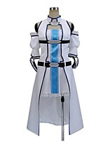 abordables -Inspiré par Sword Art Online Asuna Yuuki Cosplay Manga Costumes de Cosplay Costumes Cosplay Autre Sans Manches Manteau Robe Manche Plus