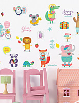 cheap -Abstract Animals Wall Stickers Plane Wall Stickers 3D Wall Stickers Animal Wall Stickers Decorative Wall Stickers, Paper Home Decoration