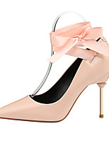 cheap -Women's Shoes Leatherette Spring Fall Comfort Heels Stiletto Heel Closed Toe for Office & Career White Black Red Nude