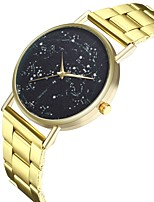 cheap -Men's Women's Unique Creative Watch Casual Watch Chinese Quartz Large Dial Punk Moon Phase Stainless Steel Band Fashion Cool Gold