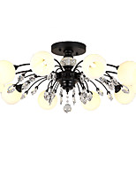 cheap -LightMyself™ Nature Inspired Chic & Modern Chandelier Pendant Light Ambient Light - Matte Crystal, 110-120V 220-240V Bulb Included