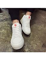 Недорогие -Муж. обувь Искусственное волокно Зима Удобная обувь Кеды для Повседневные Белый Черный