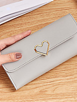 cheap -Women's Bags PU Wallet Buttons for Casual Blushing Pink / Gray
