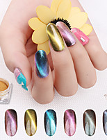 cheap -6pcs Glitter Powder Mirror Effect Nail Glitter Nail Art Design