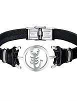 preiswerte -Herrn Armband Freizeit Cool Leder Aleación Skorpion Schmuck Alltag Verabredung Modeschmuck