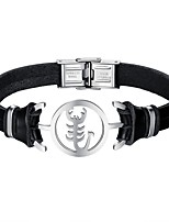 cheap -Men's Leather Bracelet - Casual Cool Scorpion Black Bracelet For Daily Date