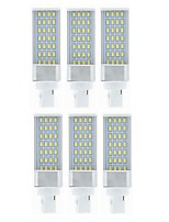 cheap -SENCART 6pcs 9W 750-850 lm G24 LED Bi-pin Lights 28 leds SMD 5630 Decorative Warm White White 85-265V