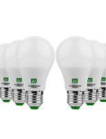 baratos -YWXLIGHT® 6pcs 5W 400-500 lm E26/E27 Lâmpada Redonda LED 10 leds SMD 5730 Branco Quente Branco Frio 12-24V DC