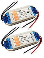 Недорогие -2pcs 110V / 220V до DC 12V Газонокосилка Аксессуары для ламп Адаптер питания Источники питания пластик для светодиодной полосы света