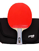 economico -6 Stelle Ping-pong Racchette Ping Pang Legno Gomma da cancellare Manopola lunga Brufoli DHS®