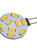 cheap -1pc 2W 180lm G4 LED Bi-pin Lights T 9 LED Beads SMD 5730 Warm White Cold White 12-24V
