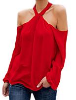 cheap -Women's Cotton T-shirt Halter Off Shoulder