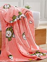 cheap -Coral fleece, Reactive Print Cartoon Cotton/Polyester Polyester Blankets