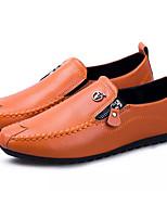 Недорогие -Муж. обувь Полиуретан Весна Осень Обувь для дайвинга Мокасины и Свитер для Повседневные Белый Черный Оранжевый