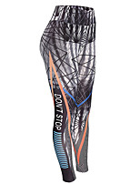 cheap -Women's Normal Polyester/Cotton Blend Medium Print Legging, Geometric Black