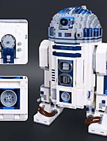 Недорогие -R2-D2 Конструкторы 2127pcs Робот Фокусная игрушка Стресс и тревога помощи Классика Игрушки Игрушки Подарок