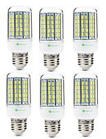 preiswerte -SENCART 6pcs 8W 420lm E14 GU10 E26 / E27 B22 LED Mais-Birnen T 96 LED-Perlen SMD 5630 Dekorativ Warmes Weiß Kühles Weiß 200-240V 110-120V