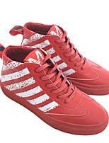 abordables -Homme Chaussures Microfibre Hiver Automne Doublure fluff Basket pour Décontracté De plein air Noir Rouge