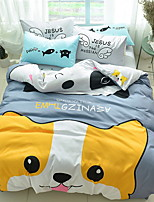 cheap -Duvet Cover Sets Cartoon 3 Piece Poly/Cotton Reactive Print Poly/Cotton 1pc Duvet Cover 1pc Sham 1pc Flat Sheet