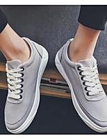 Недорогие -Муж. обувь Полотно Весна Осень Удобная обувь Кеды для Повседневные Черный Серый Синий