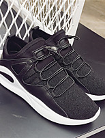 abordables -Homme Chaussures Tissu Printemps Automne Confort Basket pour Décontracté Noir Rouge Noir/blanc