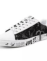 Недорогие -Муж. обувь Полотно Лето Удобная обувь Кеды для Повседневные Золотой Розовый и белый Черно-белый