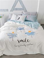 preiswerte -Bettbezug-Sets Blumen 4 Stück 100% Baumwolle Reaktivdruck 100% Baumwolle 1 Stk. Bettdeckenbezug 2 Stk. Kissenbezüge 1 Stk. Betttuch