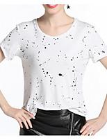 cheap -Women's Going out Street chic T-shirt - Geometric