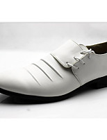cheap -Men's Shoes PU Spring Fall Comfort Oxfords for Casual White Black