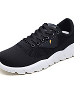 cheap -Men's Shoes Leatherette Tulle Winter Fall Comfort Sneakers Walking Shoes for Athletic Casual White Black Red