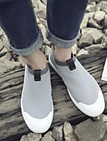 Недорогие -Муж. обувь Ткань Лето Удобная обувь Кеды для Повседневные Черный Серый