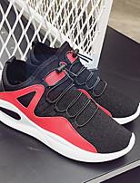 Недорогие -Муж. обувь Ткань Весна Осень Удобная обувь Кеды для Повседневные Черный Красный Черно-белый