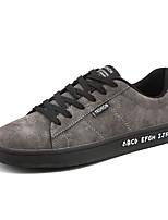 Недорогие -Муж. обувь Свиная кожа Весна Осень Светодиодные подошвы Кеды для Повседневные Черный Серый Хаки