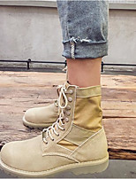 cheap -Men's Shoes Suede Spring Fall Combat Boots Boots Booties/Ankle Boots for Outdoor Khaki