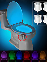 cheap -BRELONG® 4pcs Toilet Light Color-changing AAA Batteries Powered Smart Human Body Sensor Color-Changing