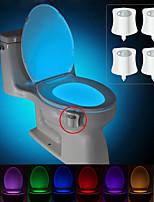 Недорогие -BRELONG® 4шт Туалетный свет Аккумуляторы AAA Smart Датчик человеческого тела Меняет цвета