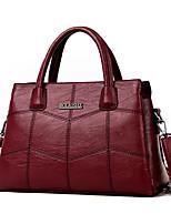 cheap -Women's Bags PU Tote Embossed Tassel Ruffles for Casual Office & Career All Seasons Blue Black Red Gray Purple