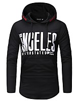 cheap -Men's Plus Size Sports Simple Casual Long Sleeves Slim Hoodie - Letter Hooded
