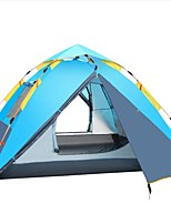 cheap -Shamocamel® 3-4 persons Tent Double Camping Tent One Room Automatic Tent Windproof for Fishing Picnic 2000-3000 mm 215*215*155 CM