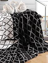 baratos -Tricotado, Impressão Reactiva Geométrica Algodão cobertores