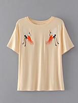 preiswerte -Damen Druck-Niedlich Grundlegend T-shirt