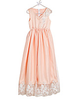 cheap -Girl's Daily Solid Colored Dress, Polyester Spring Sleeveless Cute White Orange Blushing Pink Fuchsia