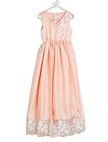 Недорогие -Девичий Платье Повседневные Полиэстер Однотонный Весна Без рукавов Очаровательный Белый Оранжевый Розовый Пурпурный