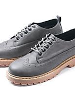 Недорогие -Муж. обувь Полиуретан Весна Осень Удобная обувь Кеды для Повседневные Черный Серый