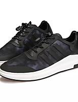 Недорогие -Муж. обувь Искусственное волокно Весна Осень Удобная обувь Кеды для Повседневные Черный/Красный Черный / синий