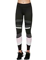 cheap -Women's Basic Sporty Legging Color Block Mid Waist