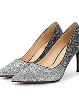 cheap -Women's Shoes Sparkling Glitter Spring Fall Basic Pump Heels Stiletto Heel Pointed Toe Sequin for Wedding Party & Evening Black Silver