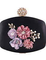 cheap -Women's Bags PU Evening Bag Pearl Detailing Flower for Wedding Event/Party All Seasons Gold Black Silver Blushing Pink