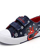 abordables -Fille Chaussures Toile Printemps Automne Confort Basket pour Décontracté Noir Bleu de minuit Bleu clair